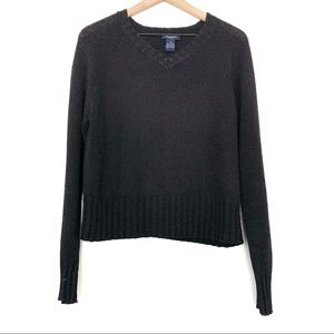 The Limited | Black V-Neck Knit Sweater